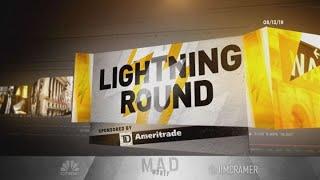 Cramer's lightning round: Own Lockheed Martin. It's going to go up