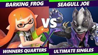 Smash Ultimate Tournament - Barking_Frog (Inkling) Vs Seagull Joe (Wolf) S@X 316 Winners Quarters