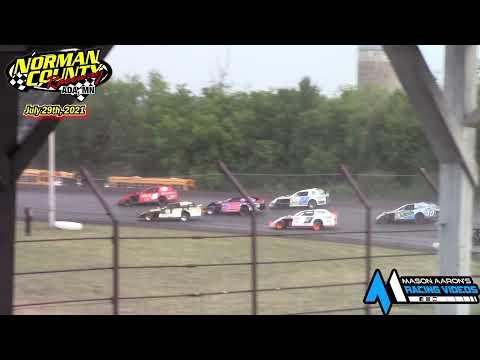 Norman County Raceway IMCA Sport Mod A-Main (7/29/21) - dirt track racing video image