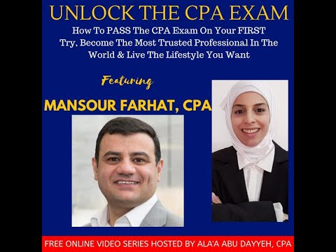 Interview W/Alaa Abu Dayyeh. Tips & advice on how to pass CPA Exam. How I started teaching & Youtube
