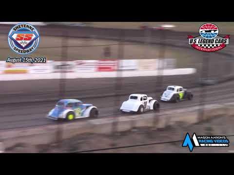 Sheyenne Speedway INEX Legends A-Main (8/15/21) - dirt track racing video image