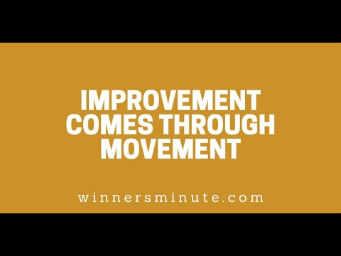 Improvement Comes Through Movement // The Winner's Minute With Mac Hammond