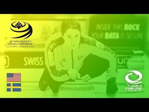 United States v Sweden - round robin - LGT World Women's Curling Championships 2019