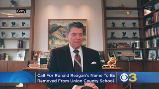 Activists Call For Ronald Reagan's Name To Be Removed From Union County School