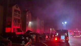 Fire erupts at Albuquerque apartment complex