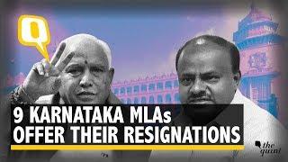 Nine Coalition MLAs Approach Karnataka Speaker Offering to Resign