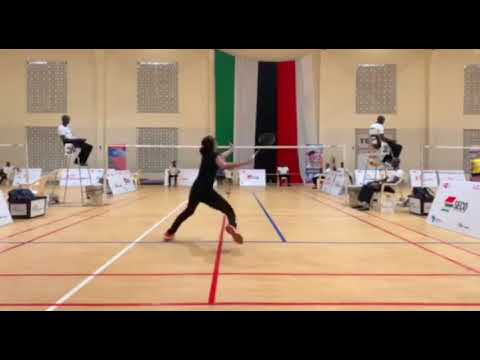 Pakistan No 1 Badminton Player Mahoor Shahzad Showing His Skills