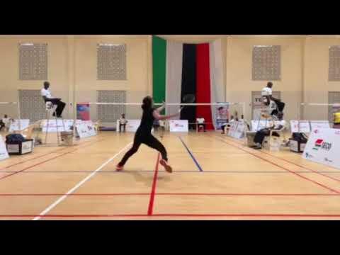 Pakistan No 1 Badminton Player Mahoor Shahzad Showing His Skills