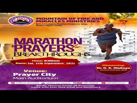 MFM - Marathon Prayers For Breakthroughs September 11,  2021