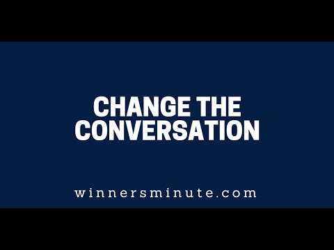 Change the Conversation // The Winner's Minute With Mac Hammond