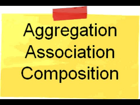 Object Oriented programming ( OOP ) :- What is Aggregation , Association and Composition ? - UCCjyq_K1Xwfg8Lndy7lKMpA