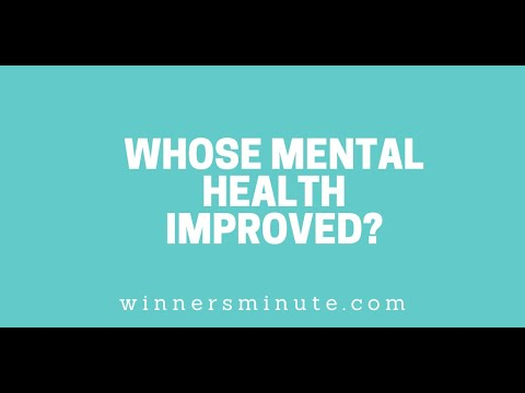 Whose Mental Health Improved? // The Winner's Minute With Mac Hammond