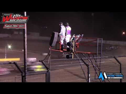 Williston Basin Speedway IMCA Stock Car A-Main (8/28/21) - dirt track racing video image