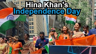 See Pics: Hina Khan celebrates Independence Day in New York