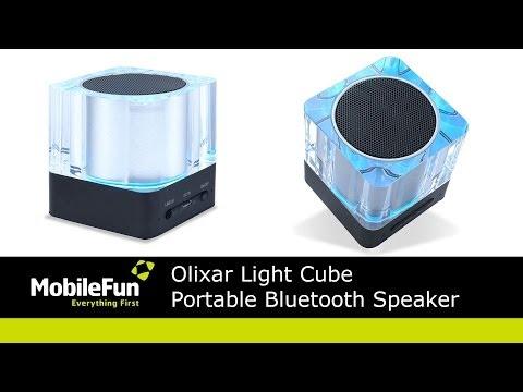 Olixar Light Cube Portable Bluetooth Speaker - mobilefuntv
