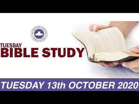 RCCG OCTOBER 13th 2020 BIBLE STUDY