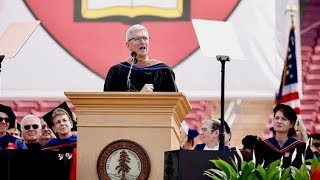 LIVE: Apple CEO Tim Cook gives the commencement address at Stanford