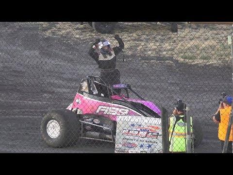 Angelique Bell's first win at Petaluma.  25 Laps - Results: 1 #551 Angelique Bell, 2 #6 Sparky Howard, 3 #5150 Chet Wilson, 4 #50 Tony Bernard, 5 #92z Scott Chapeta, 6 #3r Bob Davis, 7 #21 Jessica Walker, 8 #73 Keith Calvino, 9 #57n Dennis Furia Jr, 10 #9 Shayna Sylvia, 11 #11 Bradley Terrell, 12 #00 Rick Holbrook, 13 #66s Zack Albers.  Flagman/Starter: Scott Erwin Race Announcers: Ron Lingron Track Promoter: Rick Faeth Saturday, July 27, 2019 - dirt track racing video image