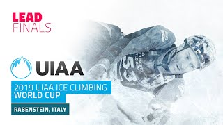 Rabenstein, Italy l Lead Finals l 2019 UIAA Ice Climbing World Cup