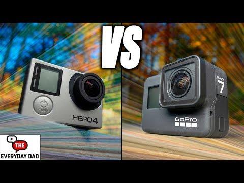GoPro Hero 7 Black Vs GoPro Hero 4 Black!  4k GoPro Family Battle!