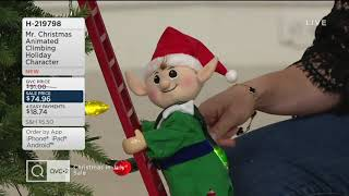 Mr. Christmas Animated Climbing Holiday Character on QVC