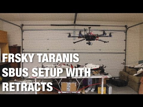 Setting up Retracts with Hexacopter and Taranis X8R Using SBUS