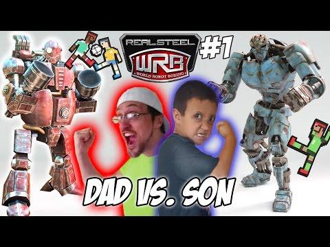 Dad vs. Son!  Real Steel World Robot Boxing! Fatboy & Ambush Multiplayer WRB Gameplay | FGTEEV #1 - UCC-RHF_77zQdKcA75hr5oTQ