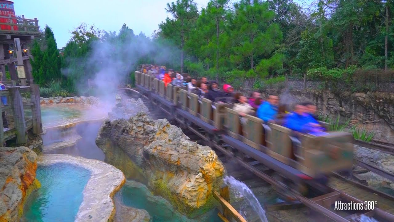 Hd The Grizzly Mountain Runaway Mine Cars Coaster Ride Hong Kong