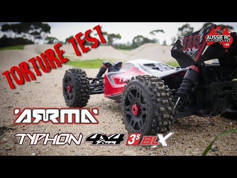 ARRMA Typhon 3S Torture Test on 3S LiPo with 20T pinion and Badlands - UCOfR0NE5V7IHhMABstt11kA