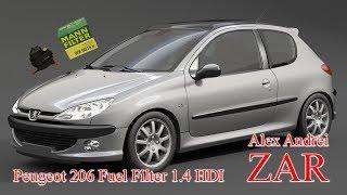 Smontaggio filtro gasolio Peugeot 206 1.4 HDI