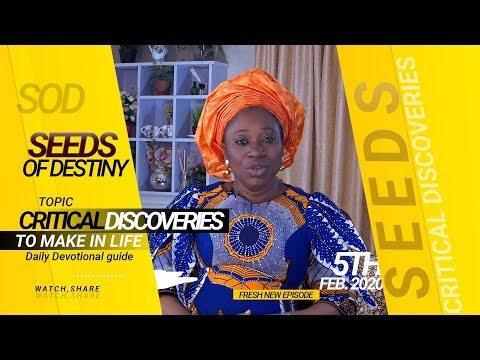 Dr Becky Paul-Enenche - SEEDS OF DESTINY - WEDNESDAY 5TH FEBRUARY, 2020