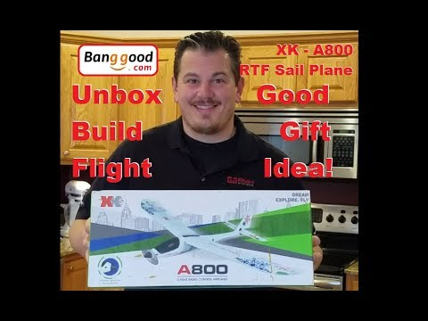 XK A800 - Micro RC Sail Plane - Unbox, Build, and Windy Maiden - UCVumEMd8O4mN1VwOPwVcLuA