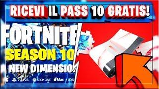 BATTLE PASS SEASON 10 GRATIS! + COME RICEVERE I REGALI FORTNITE X YOUTUBE! (FORTNITE STAGIONE 9)