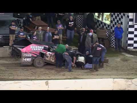 IMCA Modified Crash - 9/5/2021 Shawano Speedway - dirt track racing video image