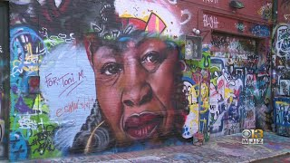 Baltimore Artist Honors Life Of Author Toni Morrison With Mural