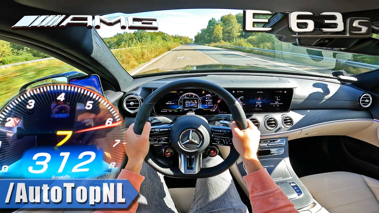 2022 Mercedes-AMG E63 S *312KM/H* TOP SPEED on AUTOBAHN by AutoTopNL
