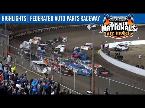 DIRTcar Summer Nationals Late Models Federated Auto Parts Raceway August 14, 2021   HIGHLIGHTS - dirt track racing video image