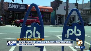 Business owner responds to Pacific Beach homeless confrontation