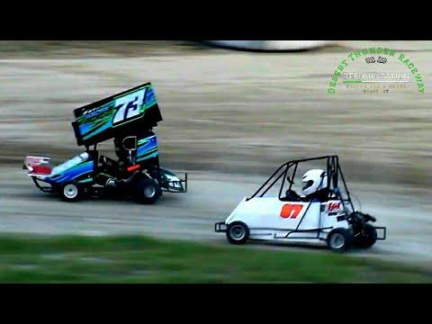 Desert Thunder Raceway Go Karts 7/24/21 - dirt track racing video image