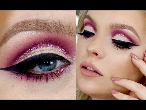 Birthday Makeup Collab w/ Atleeeey - Glitter Cut Crease Tutorial - UCzSDoNx_-X3feYnwEP0rG_w