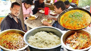 Hard Working Young Man Cooking and Selling Best Roadside Food   Maruthi Biryani Point in Hyderabad