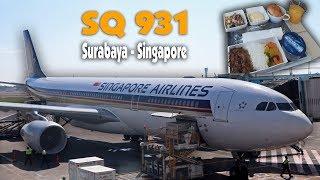 Terbang Bersama Singapore Airlines SQ931 Surabaya-Singapore Airbus A330-300