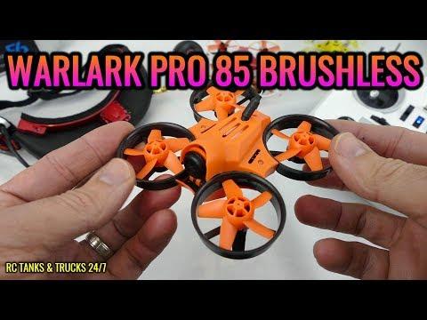 WARLARK PRO 85 Brushless Micro FPV Racing Drone BNF & Taranis Q X7 - FULL REVIEW - UC1JRbSw-V1TgKF6JPovFfpA