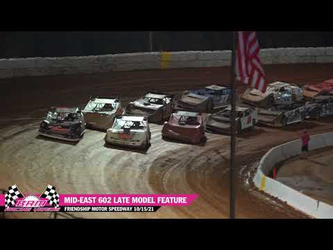 Mid-East 602 Late Model Feature - Friendship Motor Speedway 10/15/21 - dirt track racing video image