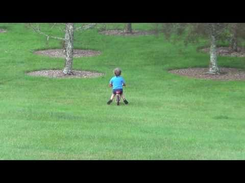 Father of the Year - Boy on bike crashes into tree HILARIOUS
