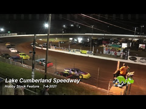 Lake Cumberland Speedway - Hobby Stock Feature - 7/4/2021 - dirt track racing video image