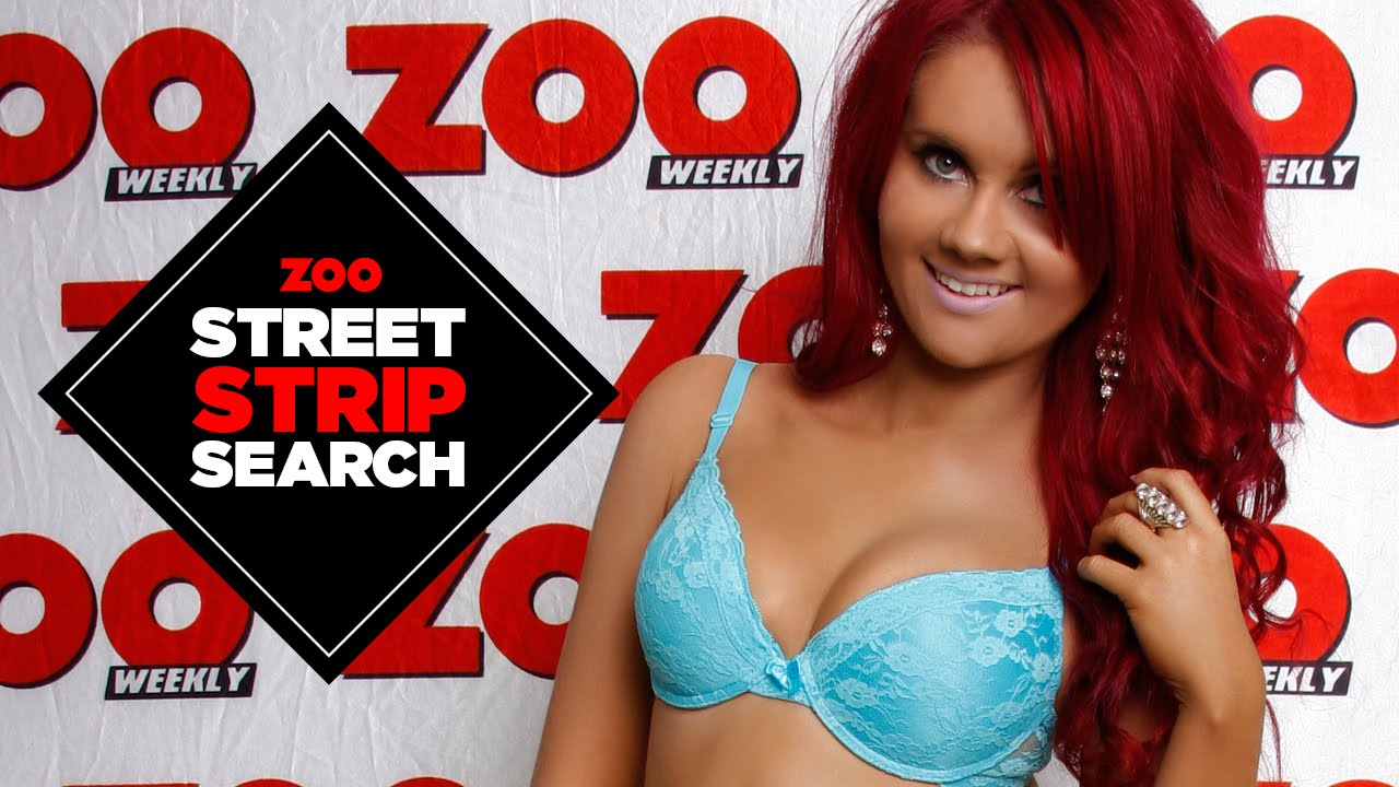 Street Strip Search – 23 year old Bianca strips off for ZOO!