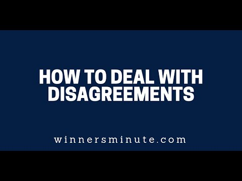 How to Deal With Disagreements  The Winner's Minute With Mac Hammond