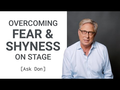 Overcoming Fear/Shyness as a Worship Leader  Ask Don