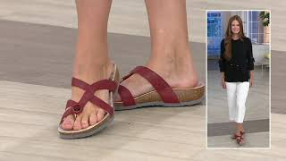 Think! Leather Strappy Sandals- Julia on QVC